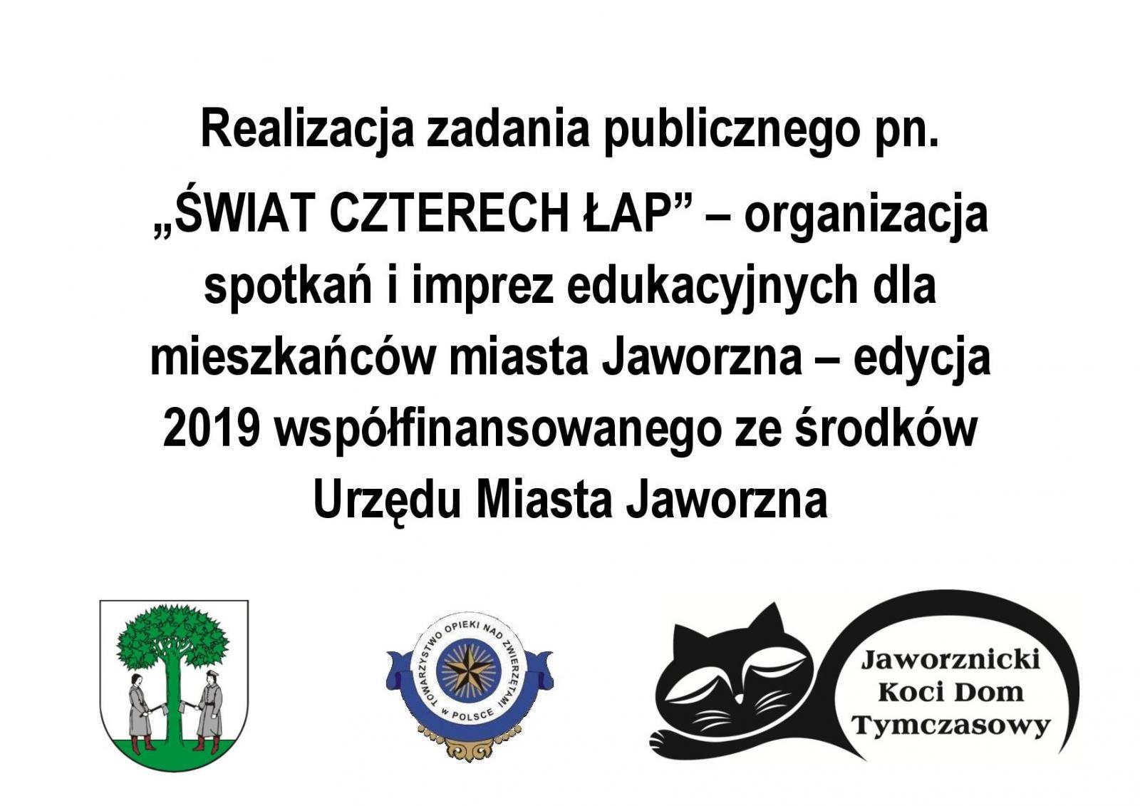 Realizacja zadania publicznego - ŚWIAT CZTERECH ŁAP