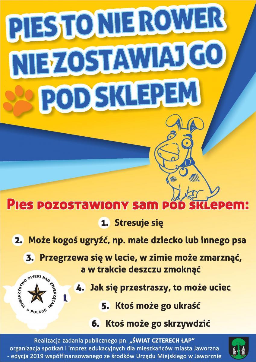 Nie zostawiaj psa pod sklepem