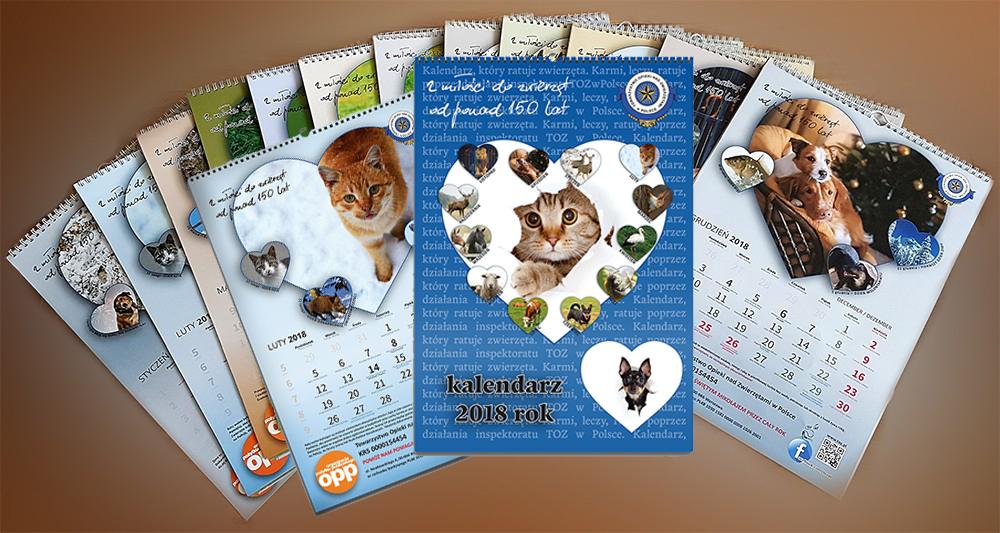 Kalendarz na 2018 rok ze zwierzętami już czeka na Ciebie :-)